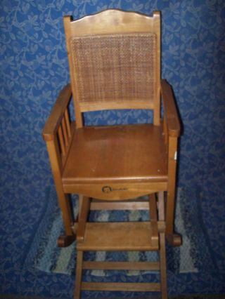 Vintage Gerber Childrens High Chair / Rocking Chair photo