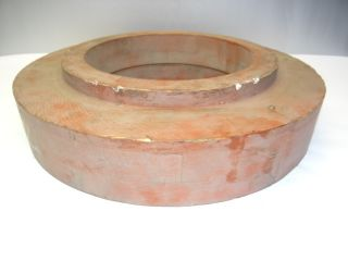 Vintage Wood Wooden Stuffing Box Z - 204 - 3322 Circular Industrial Frame Mold Form photo