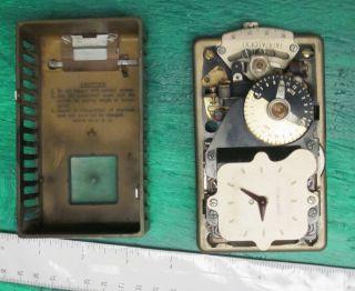 Vintage Honeywell Heat Regulator Clock Thermostat W/timer photo