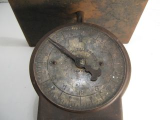 John Chatillon & Sons Brass Face Scale Unusual Capacity Overlaps Up To 16 Lbs. photo