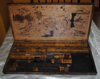 Large Wood Block Letterpress Set From Knights Of Columbus,  Richmond,  Indiana photo