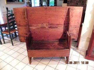 Hutch,  Chair Table,  New England,  18th Century - Pilgrim photo