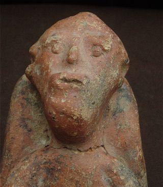 Very Rare Old Terracotta Akan Ashanti ? Death Bed Figure photo