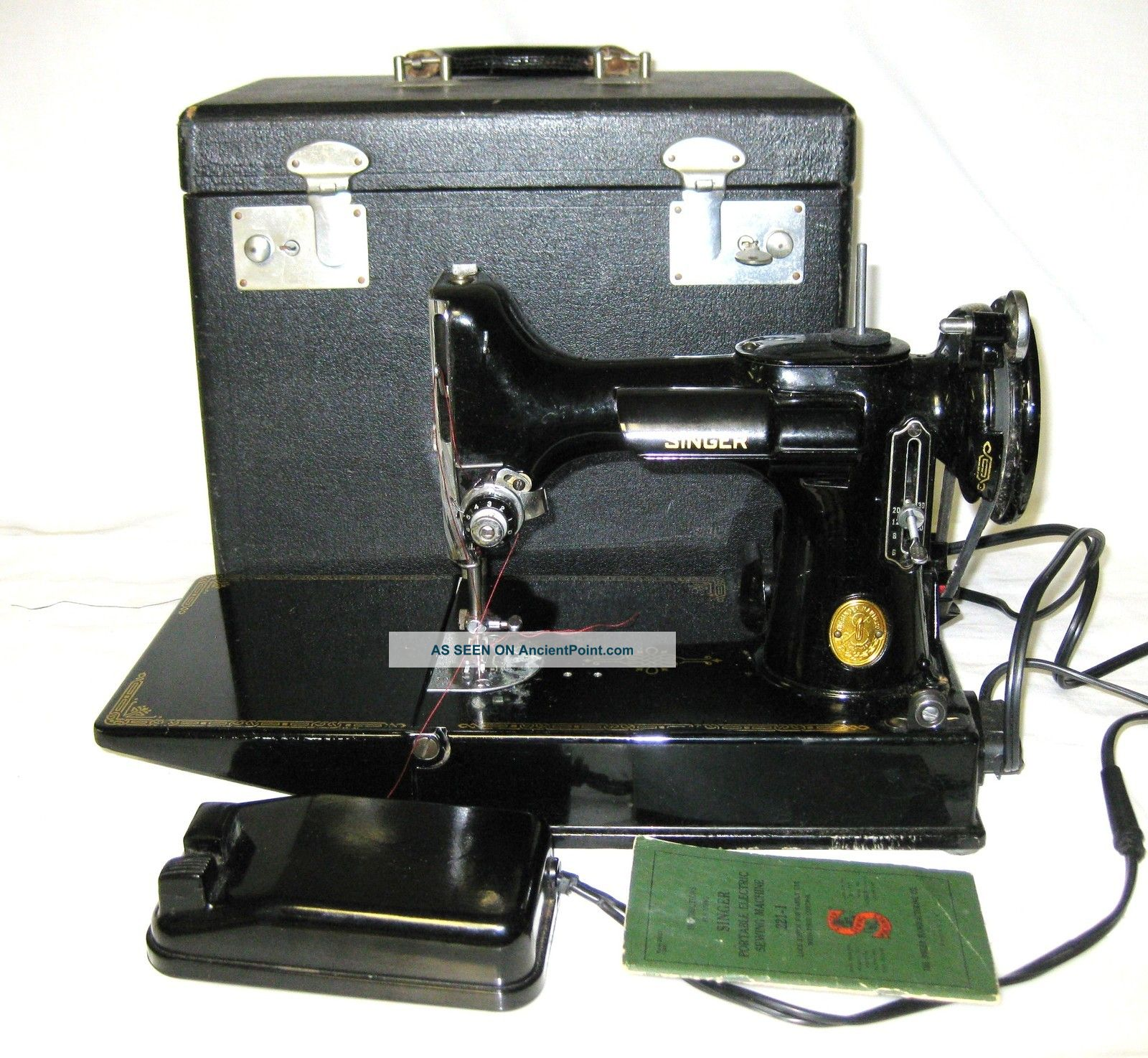 Featherweight Sewing Machine 221 With Case & Attachments Sewing Machines photo
