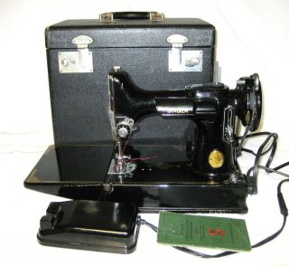 Featherweight Sewing Machine 221 With Case & Attachments photo