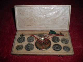 Rare And Complete 18th Century Italian Coin Scale photo