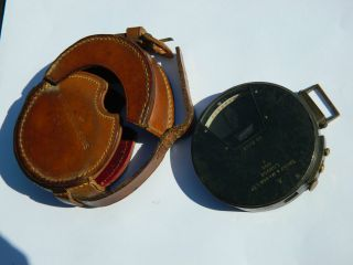 Vintage 1906 Short & Mason Ltd Military Clinometer + Leather Case - Wwi Use photo