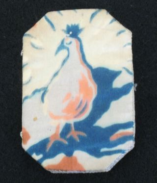 Antique Victorian Edwardian Hand Stitched Pin Holder,  Case,  Bird Pattern,  Sewing photo