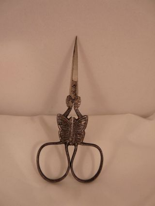 Antique Premier Miniature Sewing Embroidery Butterfly Scissors Mi Germany photo