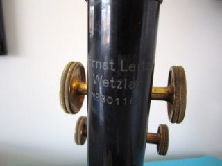 Ernst Leitz Wetzlar Antique Microscope 1931 Era (works) Collectors photo