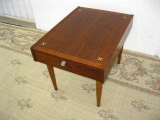 Vtg End Table American Of Martinsville Danish Mid Century Modern Inlay Coffee photo