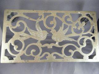Antique English Fireplace Trivet / Footman / Brass / Circa 1850/ Hairy Paw Feet photo