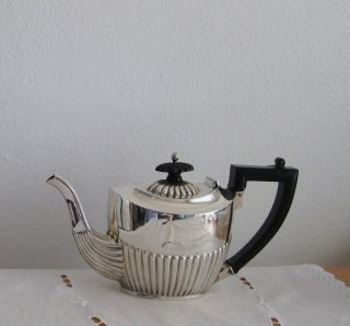 Lovely Antique Victorian Sterling Silver Bachelor ' S Tea Pot photo