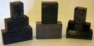 Vintage Lead Steel Wood Letterpress Printing Blocks Rustic Patina Primitive photo
