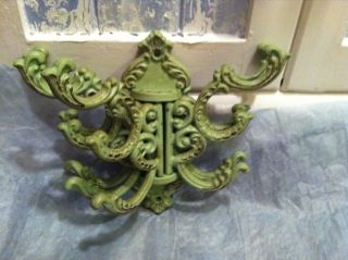 Cast Iron 5 Coat Hanger/ Rack Shabby Chic Style Amazing Details photo