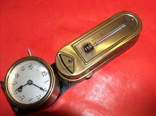 Vtg Old Minneapolis Polished Brass Heat Regulator Art Deco Clock Thermostat photo