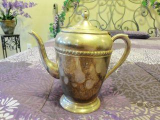 Coffee/tea Server Vintage English Silver Mfg.  Corp Mms S photo