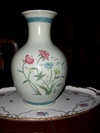 Antique Vase Signed & Numbered Hand Painted 12 1/2