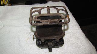 Union Kerosene Sad Iron Heater Cook Stove Vintage Antique Cast Iron Brass photo
