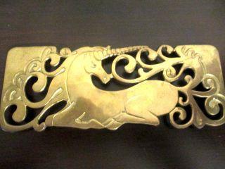 Unicorn Brass Well Made Trivet photo