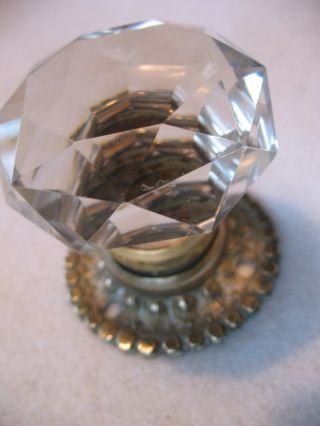 Stunning Old Antique Reclaim Victorian Cut Crystal Glass Door Knob Handle photo