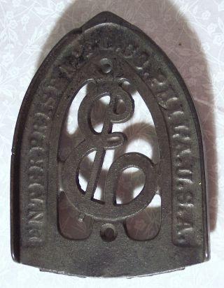 Vintage Cast Iron Trivet 6