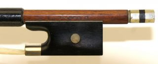 Very Good Antique German Violin Bow Stamped Paesold - photo