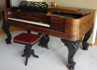 Hallet,  Davis & Co.  Square Grand Piano,  1868 photo