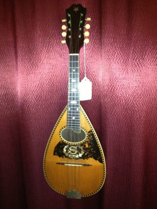 Antique,  Top Quality,  Bowlback,  Mandolin C.  1900 Stetson/larson Bros.  U.  S.  A. photo