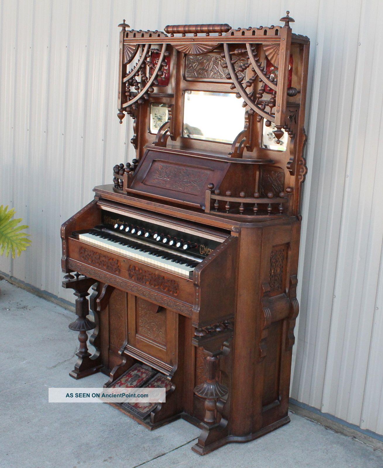 Fabulous Neman Brothers Stick & Ball Victorian Parlor Pump Organ Keyboard photo