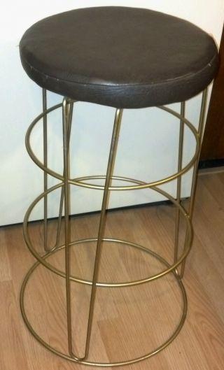 Vtg Mid Century Modern Hairpin Retro Bar Stool Chair Eames Era Hollywood photo