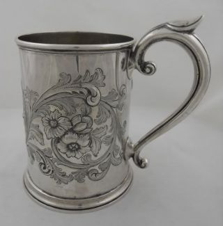 Antique Sterling Silver Pint Mug - Worcs.  Farming Interest - London 1872 photo