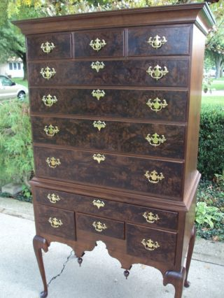 Walnut Queen Anne Highboy Completely Hand Made photo