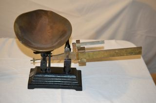 Vintage Antique Merchant Scale.  For Candy Or Farm photo