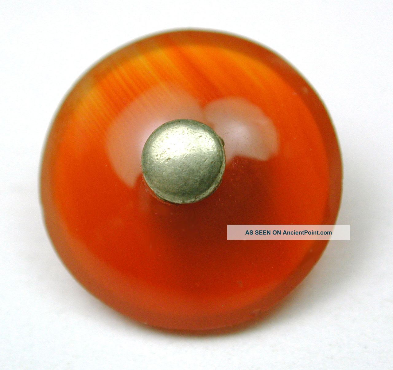 Antique Carnelian Button Waistcoat Pin Shank Design 1890s Buttons photo