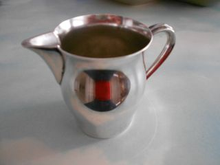 Vintage Silverplate Creamer Wm Rogers Paul Revere Repro - Cute & Clean photo