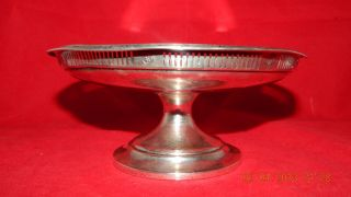 Antique Sterling Silver Towle Compote Hollow Pedestal Nut Or Candy Dish 4.  6 Oz photo