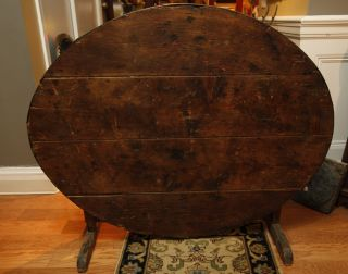Antique French Country Wine Tasting Table photo