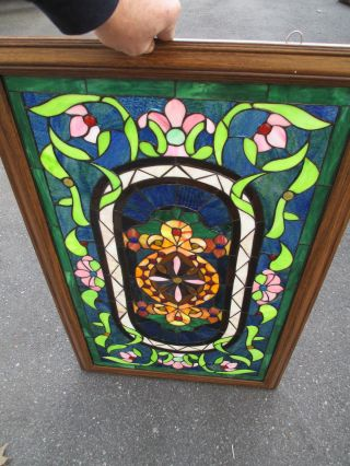 51370 Stain Glass Window In Fancy Picture Frame photo