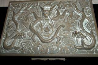 Chinese Brass/bronze Box Antique photo