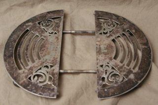 Vintage Antique Silverplate Adjustable Footed Trivet Kitchenware Monogramed Ece photo