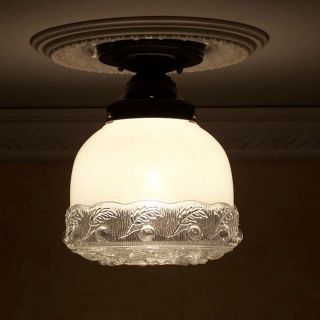 ((sweet Beauty) Ceiling Lamp Light Glass Shade Fixture Kitchen Porch Hall photo