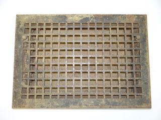 Antique Cast Iron Architectural Hardware 12 18 Large Floor Heating Grate Vent Nr photo