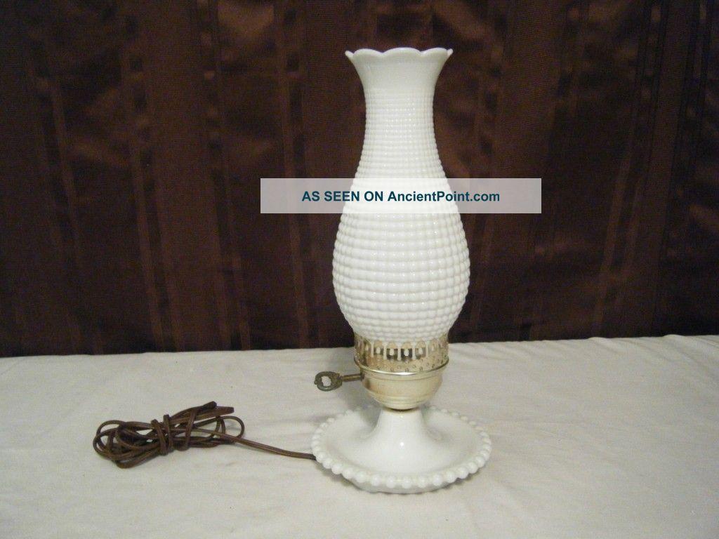 Vintage Hobnail Milk Glass Lamp Design Ideas