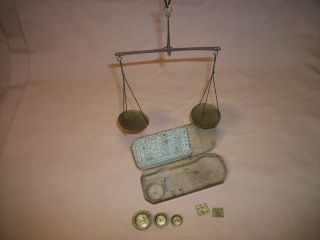 Antique 19th Century French Pocket Suspension Balance Scale. . . . .  39. . . .  L@@k photo