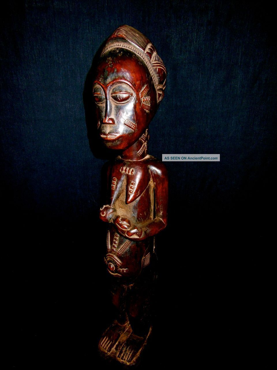 African Tribal Baule Carved Mbra Divination Statue Sculpture Ethnographic Art Sculptures & Statues photo