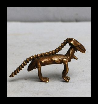A Finely Cast Antelope With Excellent Details,  An 18 - 19thc Akan Gold Weight photo