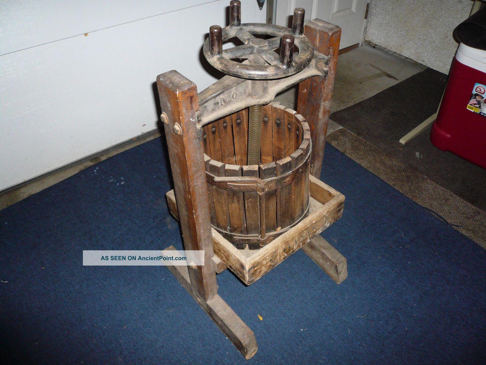 Vtg 1941 Oasis Wine Press Lake Home Designer Grape Resort Hocking Rich Primitives photo