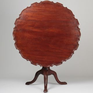 American Chippendale Period Mahogany Pie Crust Tea Table,  Poss.  Southern States photo
