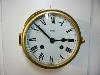 Vintage Firkat Marine Ships Clock Working Adn Service By A Clockmaker photo